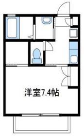 アルス伸晃1階Fの間取り画像