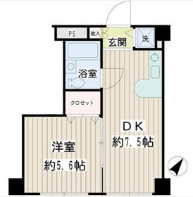 二俣川YSマンション3階Fの間取り画像