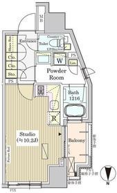 白金高輪駅 徒歩10分11階Fの間取り画像
