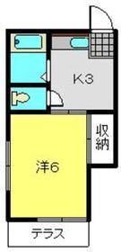 大浜3号荘1階Fの間取り画像