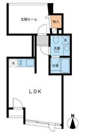 サークル南麻布2階Fの間取り画像