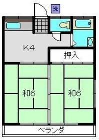 三ッ沢下町駅 徒歩9分2階Fの間取り画像