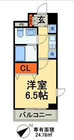 カスタリア三ノ輪9階Fの間取り画像