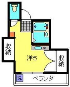 新丸子駅 徒歩15分2階Fの間取り画像