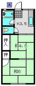 大浜6号荘1階Fの間取り画像