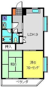 スカイコート21弐番館2階Fの間取り画像