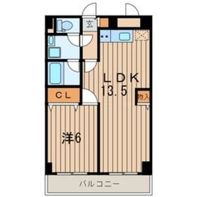 パールハイツ黒川4階Fの間取り画像