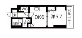 エムエー大口マンション4階Fの間取り画像