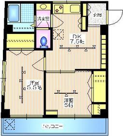 ニュー高雄ハイツ5階Fの間取り画像