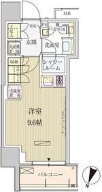 パークアクシス赤坂見附3階Fの間取り画像