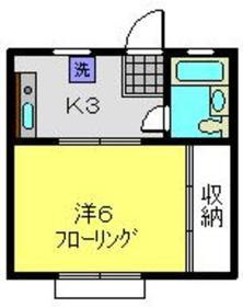 メゾンウスイ1階Fの間取り画像