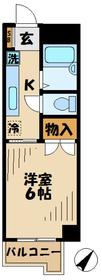 マンション如月(キサラギ)1階Fの間取り画像