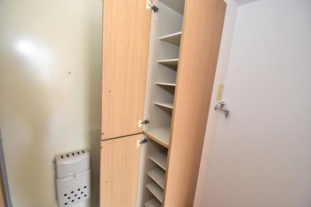 エステートピアナカタA棟 ゆったりとした玄関。もちろんシューズボックスもあります。