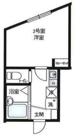 リーヴェルLeco横浜ActⅡ2階Fの間取り画像