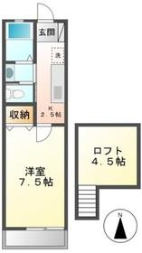 クレセントハイツTOKYUIII1階Fの間取り画像