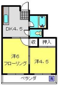 最戸ハイツ2階Fの間取り画像
