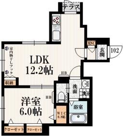 Felice Kitazawa1階Fの間取り画像