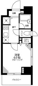 グロースメゾン亀戸10階Fの間取り画像