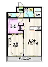 プレミアム武蔵浦和 ペット共生3階Fの間取り画像