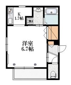Coronet Nana3階Fの間取り画像