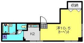 馬場マンション3階Fの間取り画像