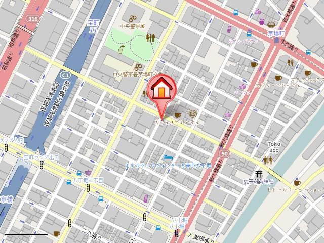 茅場町駅 徒歩3分案内図