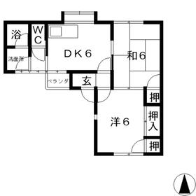 コンフォート・エフ1階Fの間取り画像