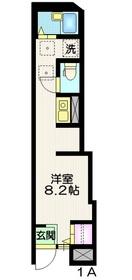 Wing Apartsments  Nakaitabashi1階Fの間取り画像
