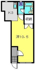 YSビスタ1階Fの間取り画像