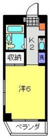 新丸子駅 徒歩6分3階Fの間取り画像