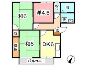 いきいきコーポ神田 II2階Fの間取り画像