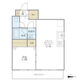 メゾン美羅樹I3階Fの間取り画像