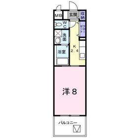 新川崎駅 徒歩12分2階Fの間取り画像