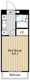 カレッジハイツ玉川4階Fの間取り画像