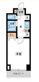 カッシア川崎レジデンス10階Fの間取り画像