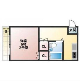 鶴ヶ峰駅 徒歩11分2階Fの間取り画像