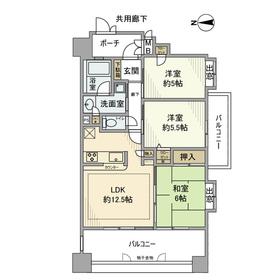 エクセルダイア鶴見ウイング9階Fの間取り画像