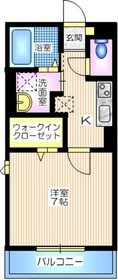 ウィズハイム新横浜2階Fの間取り画像