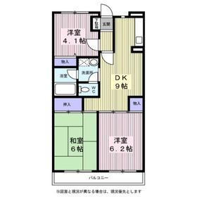 サンハイム笹堀3階Fの間取り画像