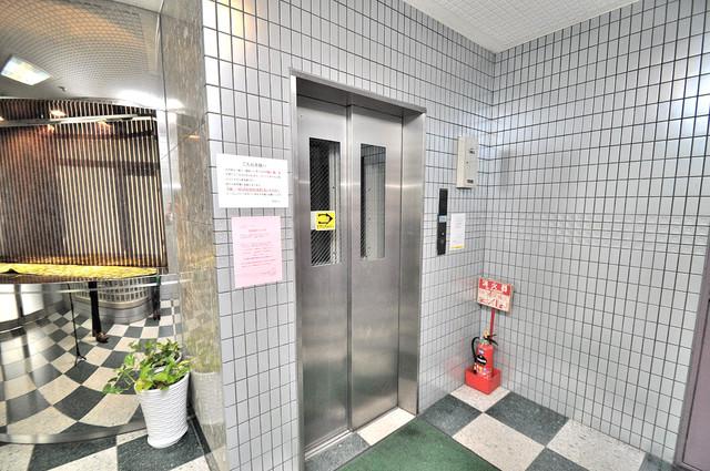 ローズガーデンCOMO 嬉しい事にエレベーターがあります。重い荷物を持っていても安心