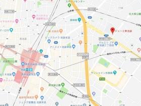 新大塚駅 徒歩16分案内図