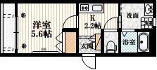HALCOURT1階Fの間取り画像
