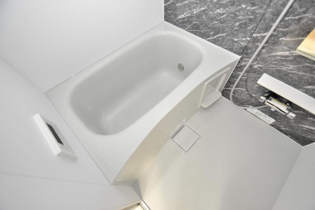 リジエールⅡ 広めのお風呂は一日の疲れを癒してくれます。