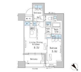 パークアクシス茅場町8階Fの間取り画像