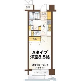 リビングステージ広瀬川1階Fの間取り画像