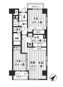 フォンティーヌ川崎4階Fの間取り画像