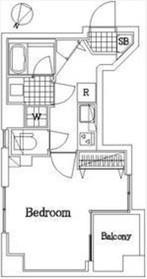 ザ・レジデンス・オブ・トーキョーY216階Fの間取り画像