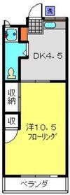 羽沢コーポ3階Fの間取り画像