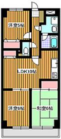 KサンライトマンションIII3階Fの間取り画像