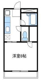 リエス伊勢原2階Fの間取り画像